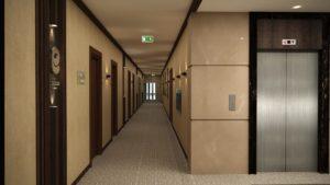 Коридор гостиницы