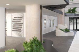 Отделка лифтового холла